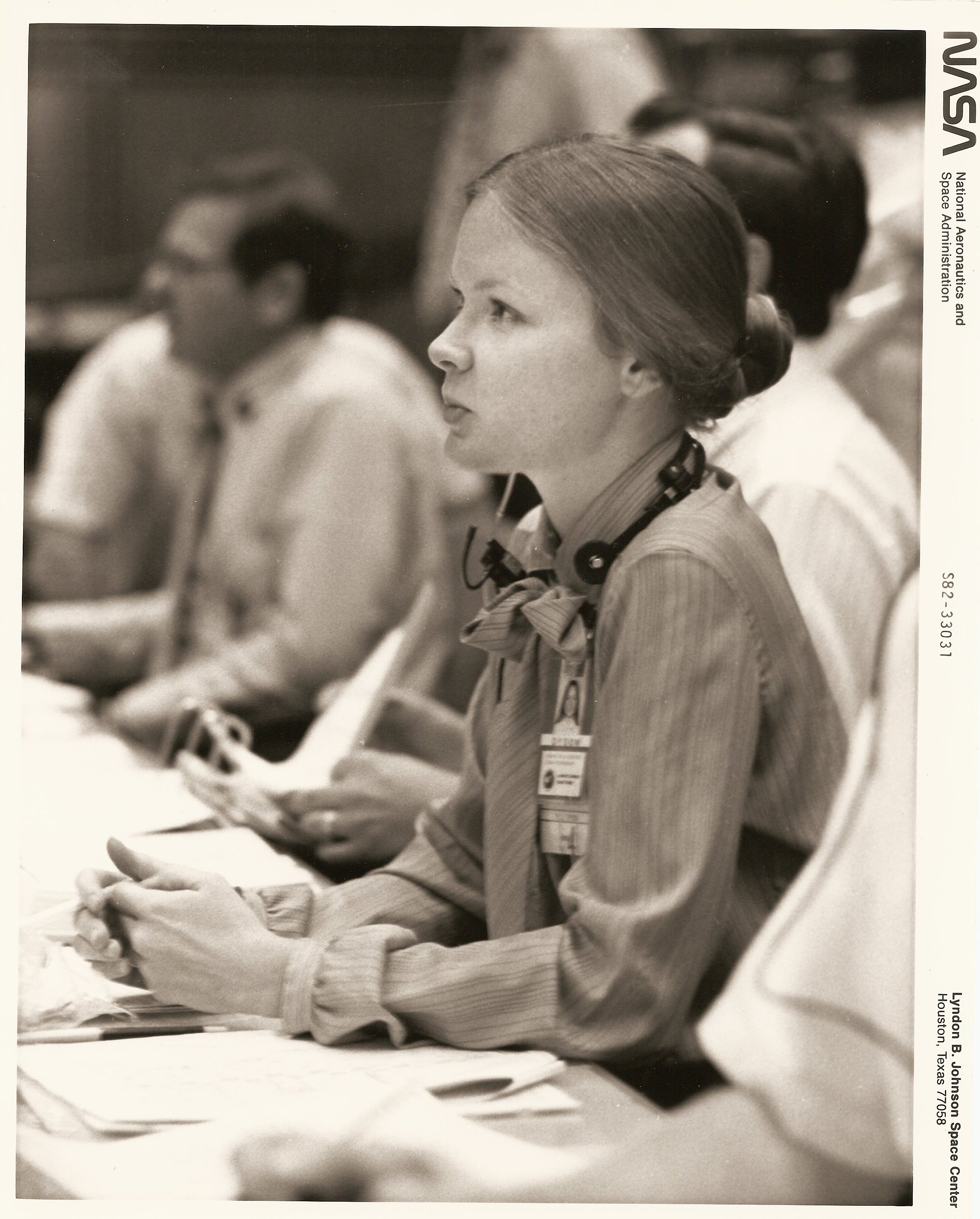 Marianne Jakmides Dyson during STS-4, July 1982
