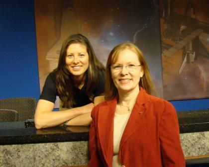 With Expedition 23 crewmember Tracy Caldwell Dyson.