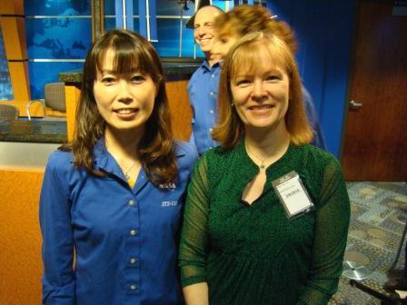 With STS-131 Japanese Astronaut Naoko Yamazaki.