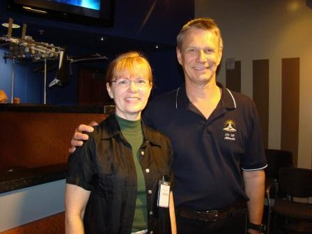 With STS-132 Astronaut Piers Sellers.