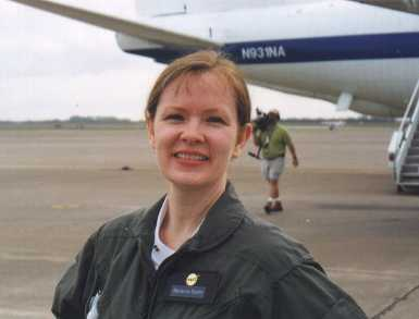 Marianne Dyson flew on NASA's Vomit Comet.