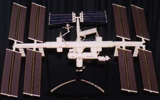 scale model of ISS.