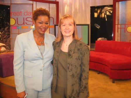 With Great Day Houston host Debra Duncan.