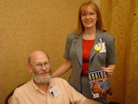 With Analog Science Fiction editor, Dr. Stanley Schmitt.