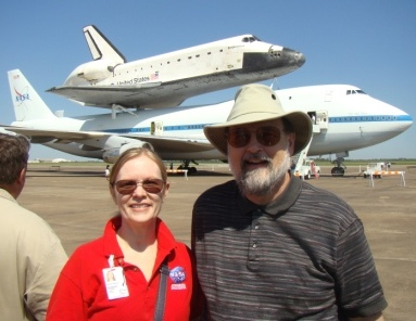 Marianne & Ted Dyson at Endeavour visit to Houston 9-9-12.
